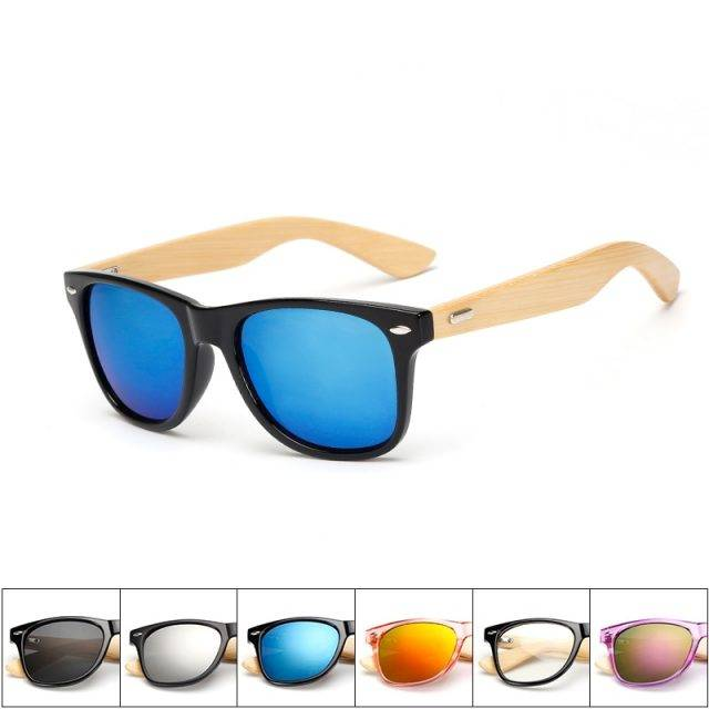 Unisex Colorful Wooden Sunglasses Colorful