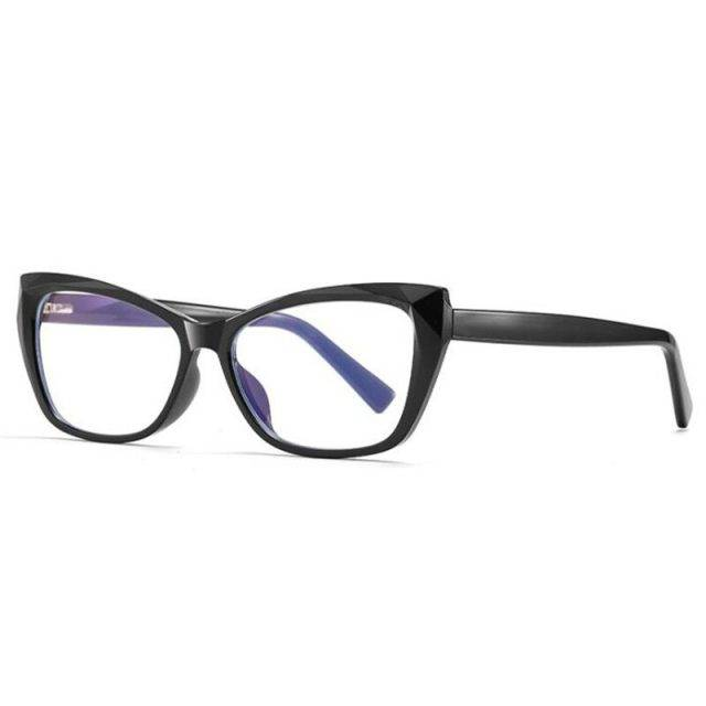 Women's Fashion Anti-Blue Light Cat Eye Glasses Glare Resistant & Blue-Blocker Lenses