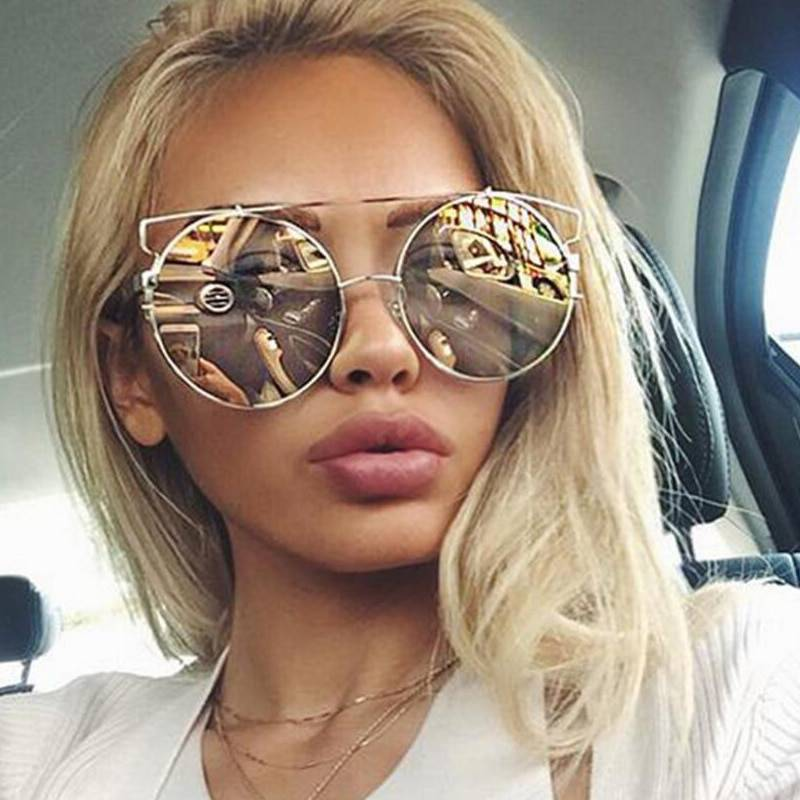 Women Double Wire Oversized Bohemian Vintage Sunglasses Oversized